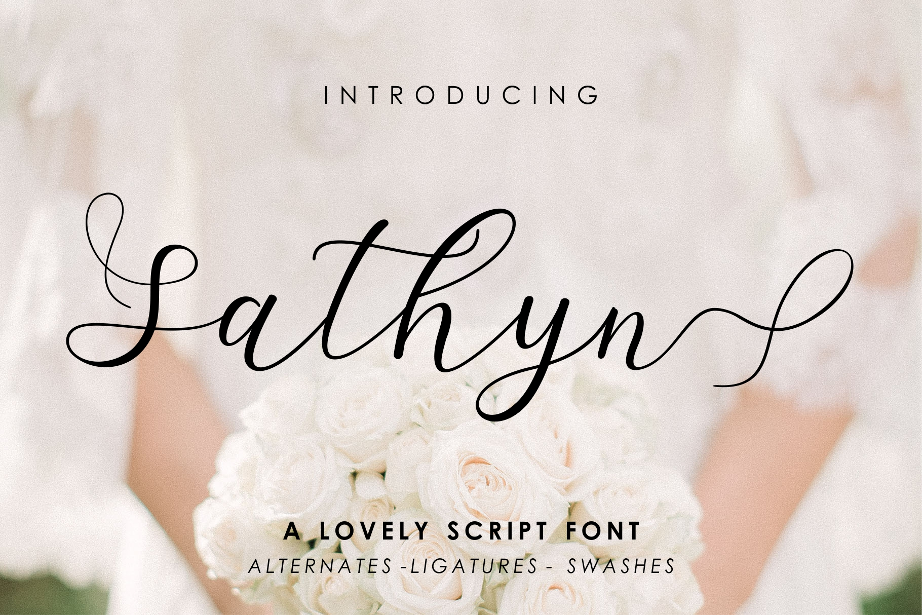 Sathyn Lovely Script Font example image 1