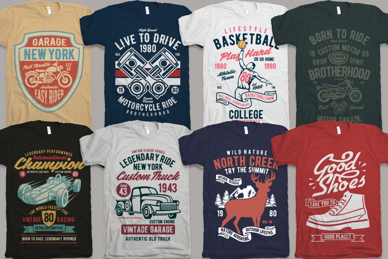 25 Premium Tshirt Designs Big Bundle 6 example image 2