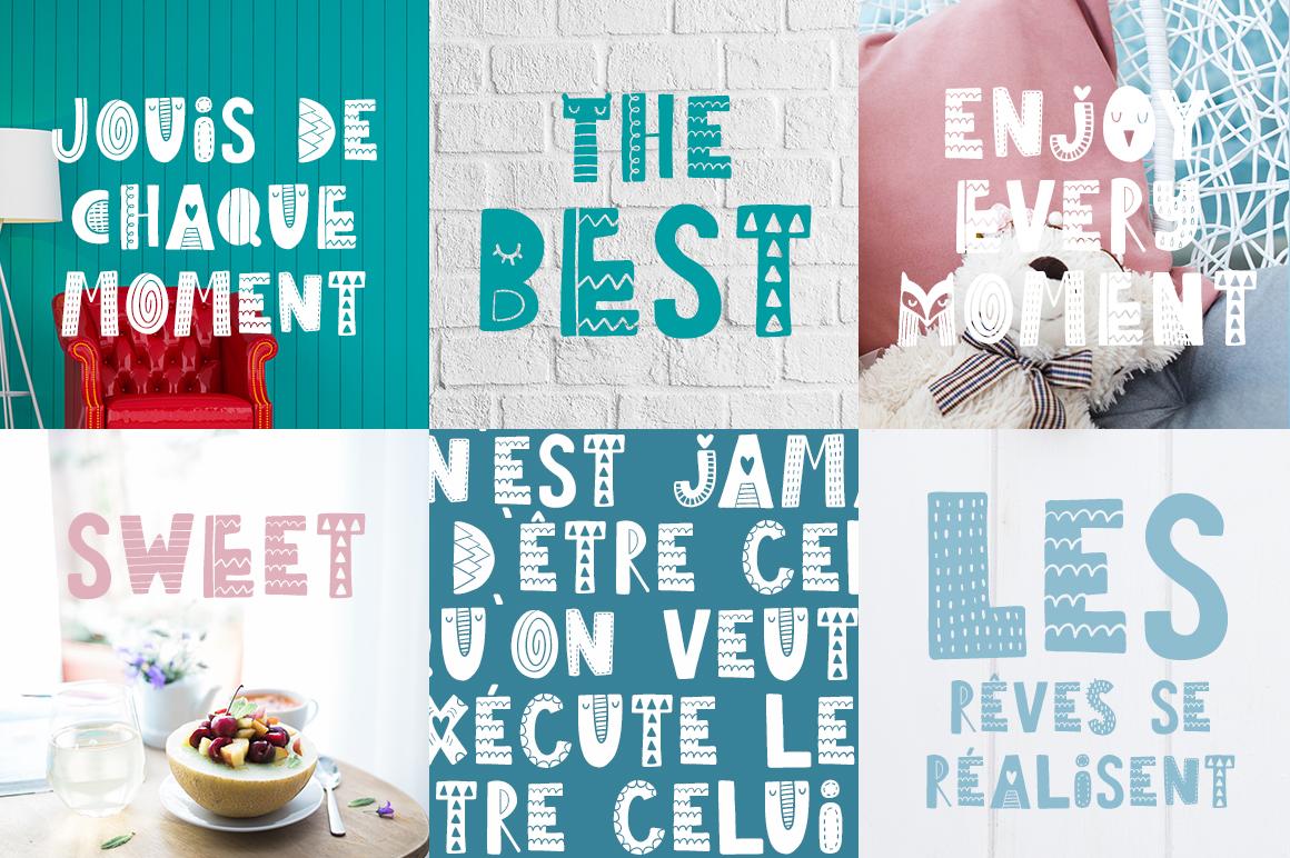 Tiny Joy Font - Scandinavian & Kids example image 5