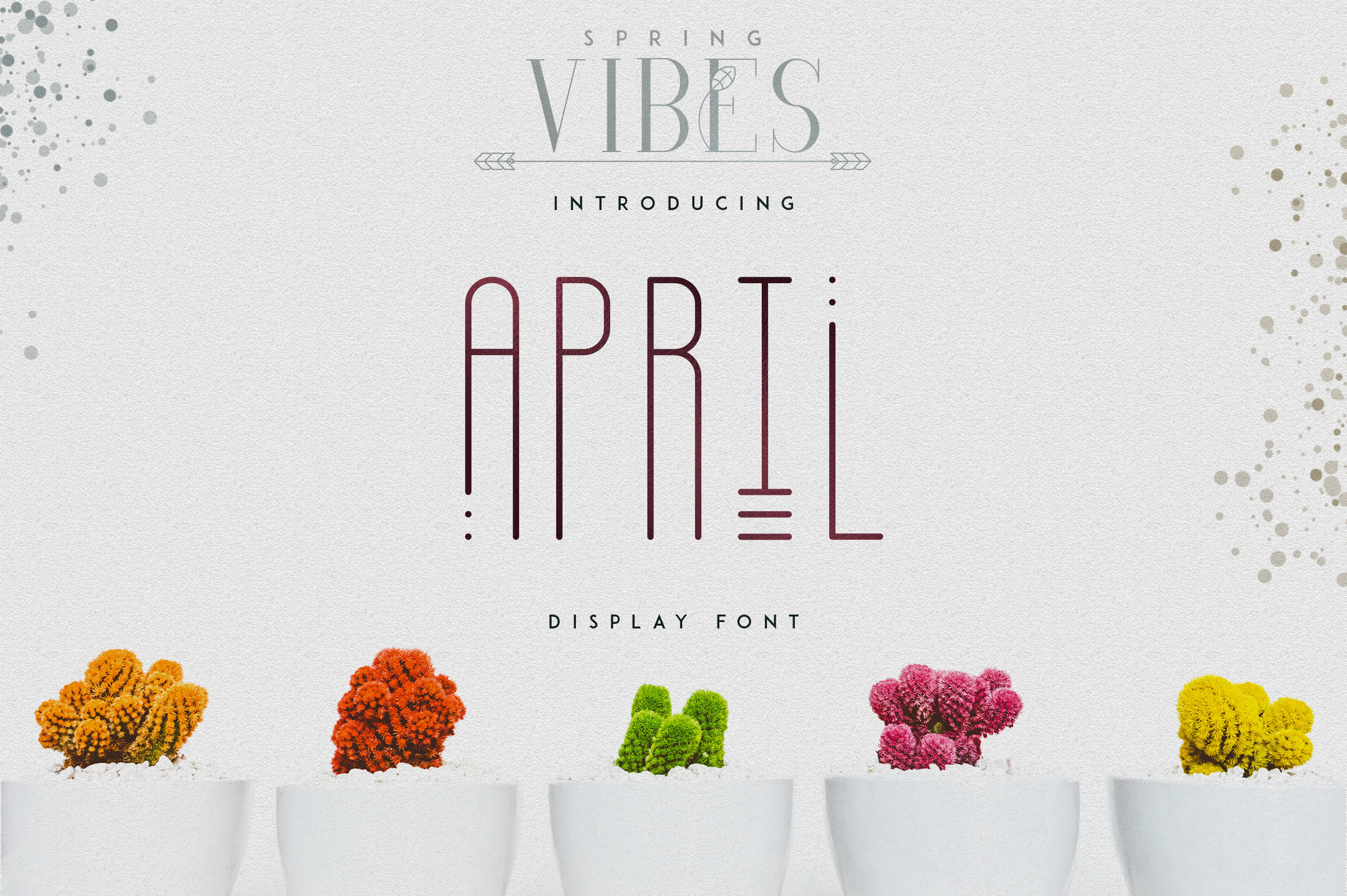 [Spring Vibes] April Display Font example image 1