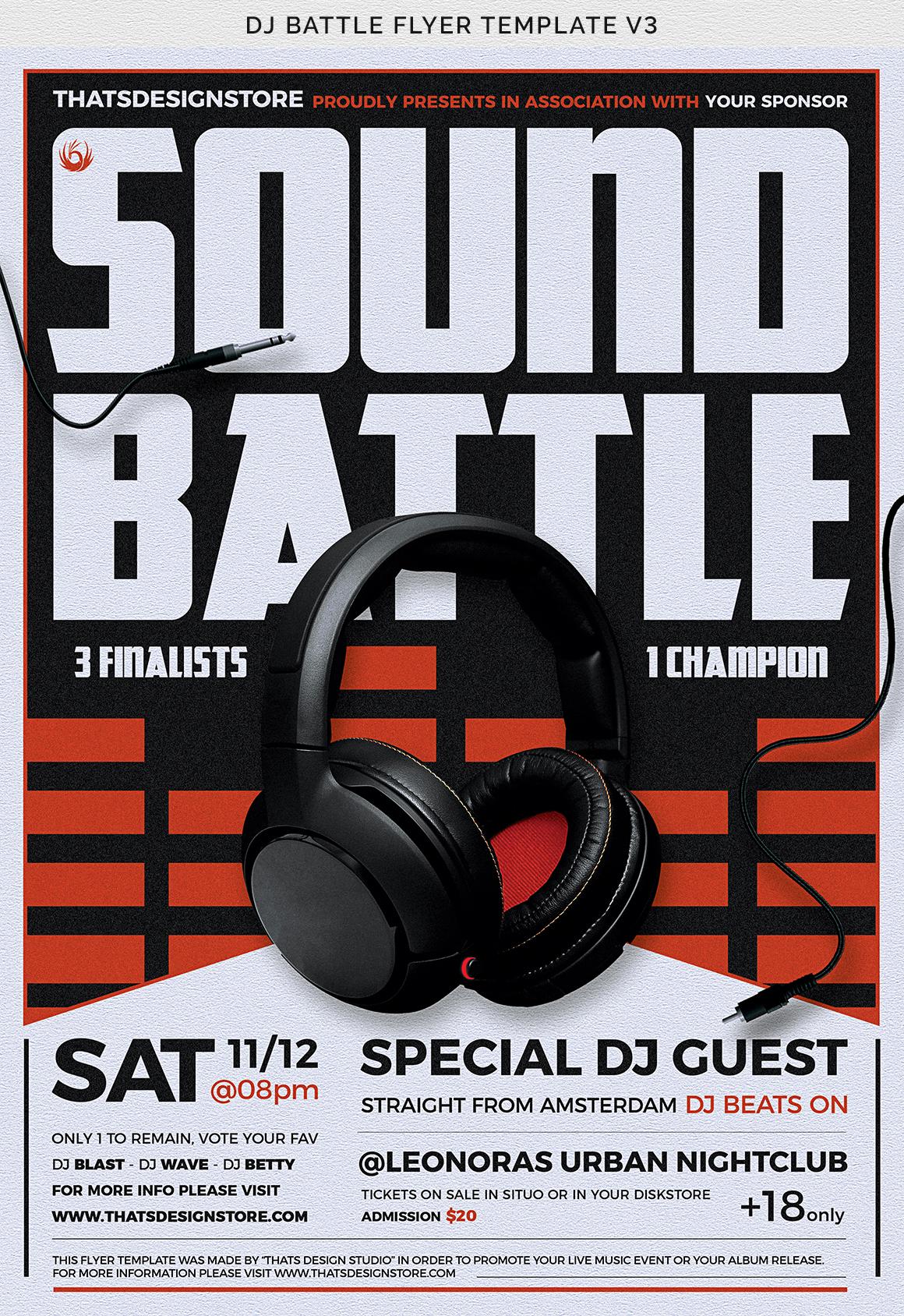 DJ Battle Flyer Template V3 example image 10