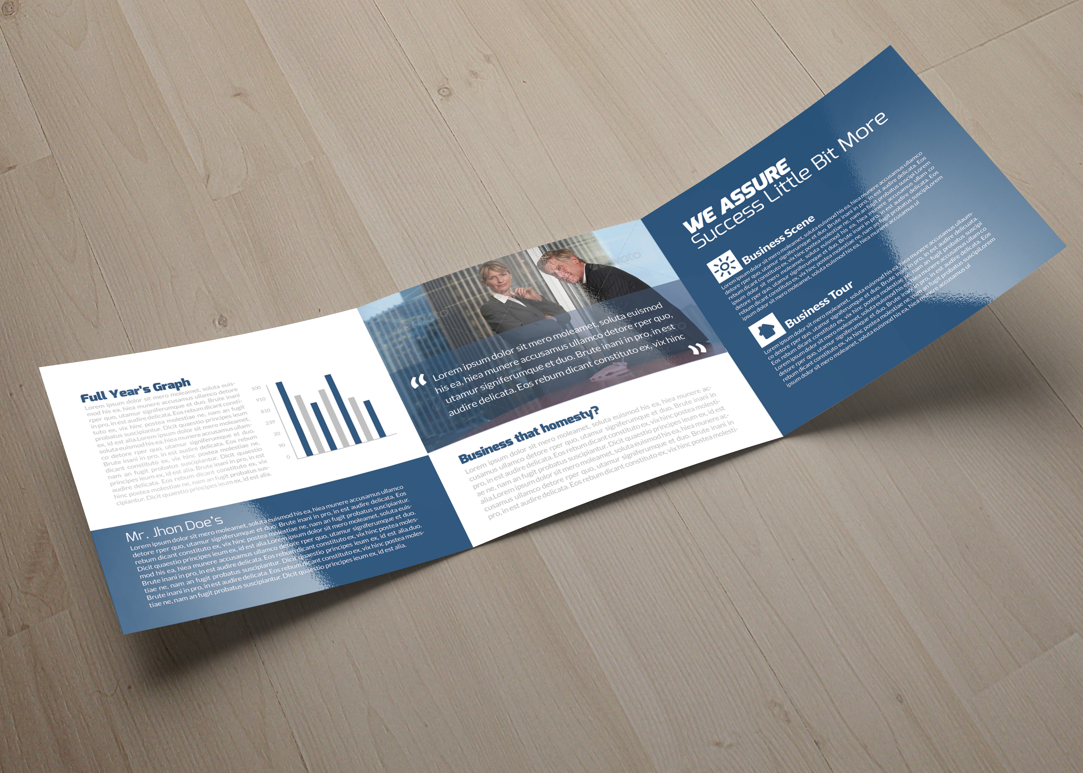 Professional Business Square Trifold Brochure example image 6