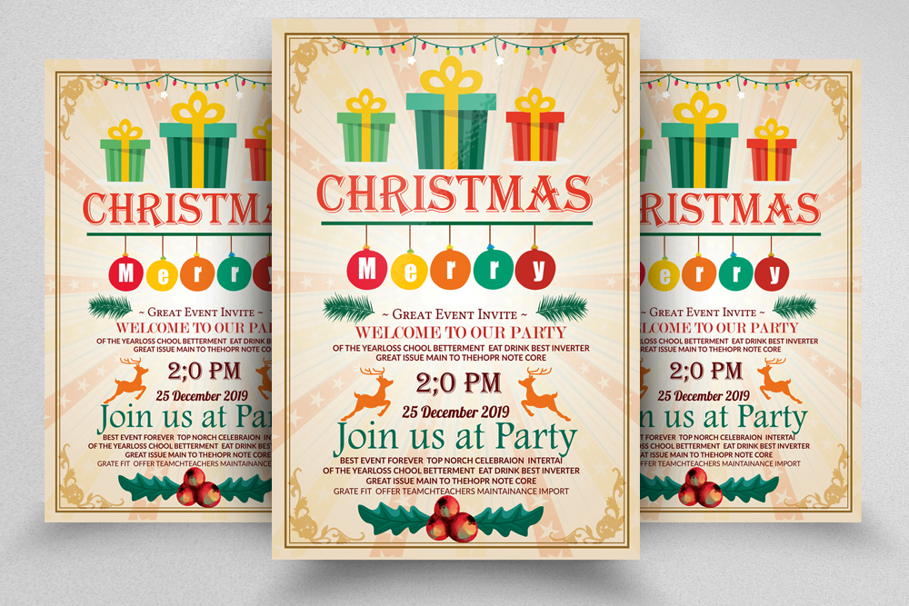 Christmas Party Event Flyer example image 1