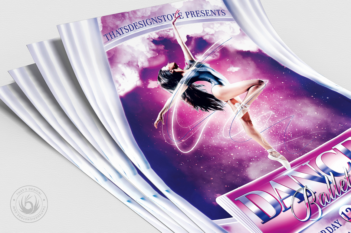 Dance Ballet Flyer Template V1 example image 5