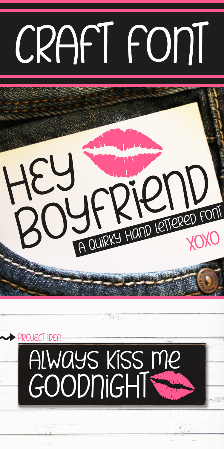 Hey Boyfriend - A Smooth Quirky Hand Lettered Font by DWS example image 9