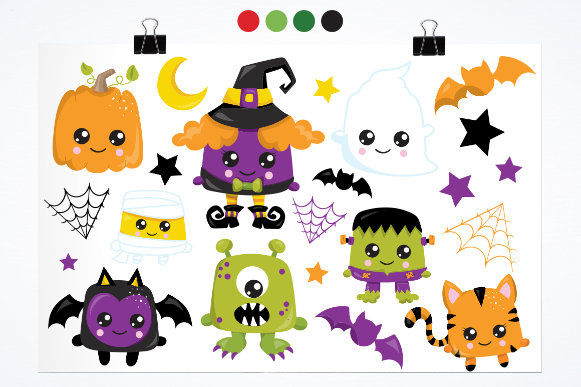 Halloween graphic and illustrations example image 2