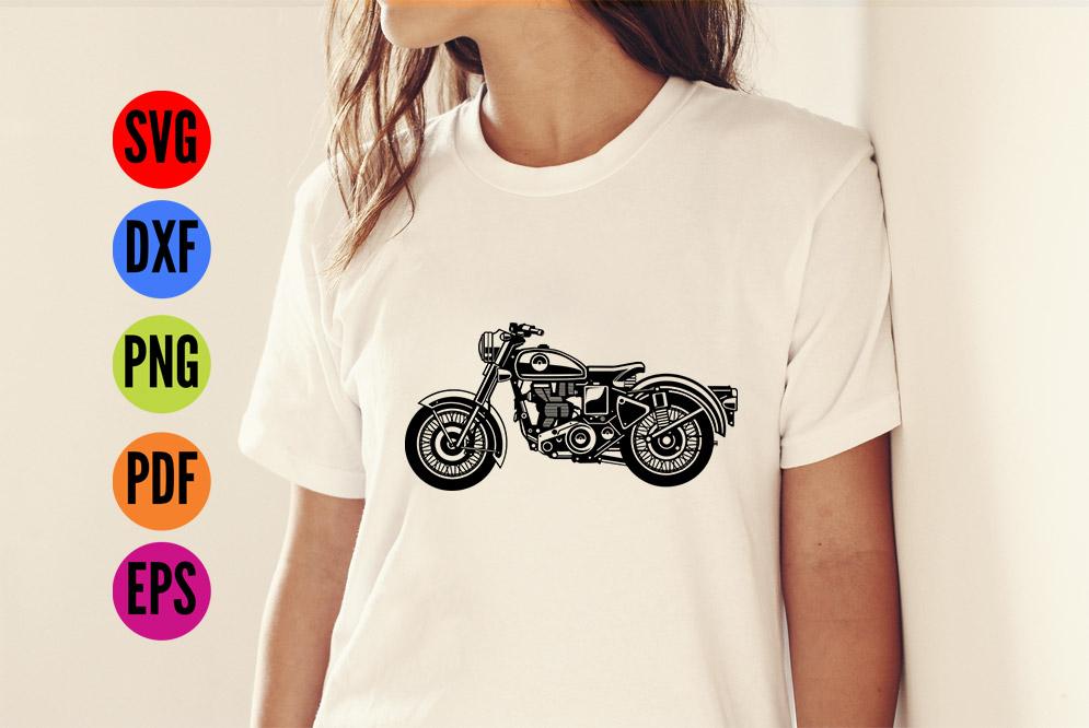 Vintage Motorbike, Motorcycle  SVG Cutting File  example image 2