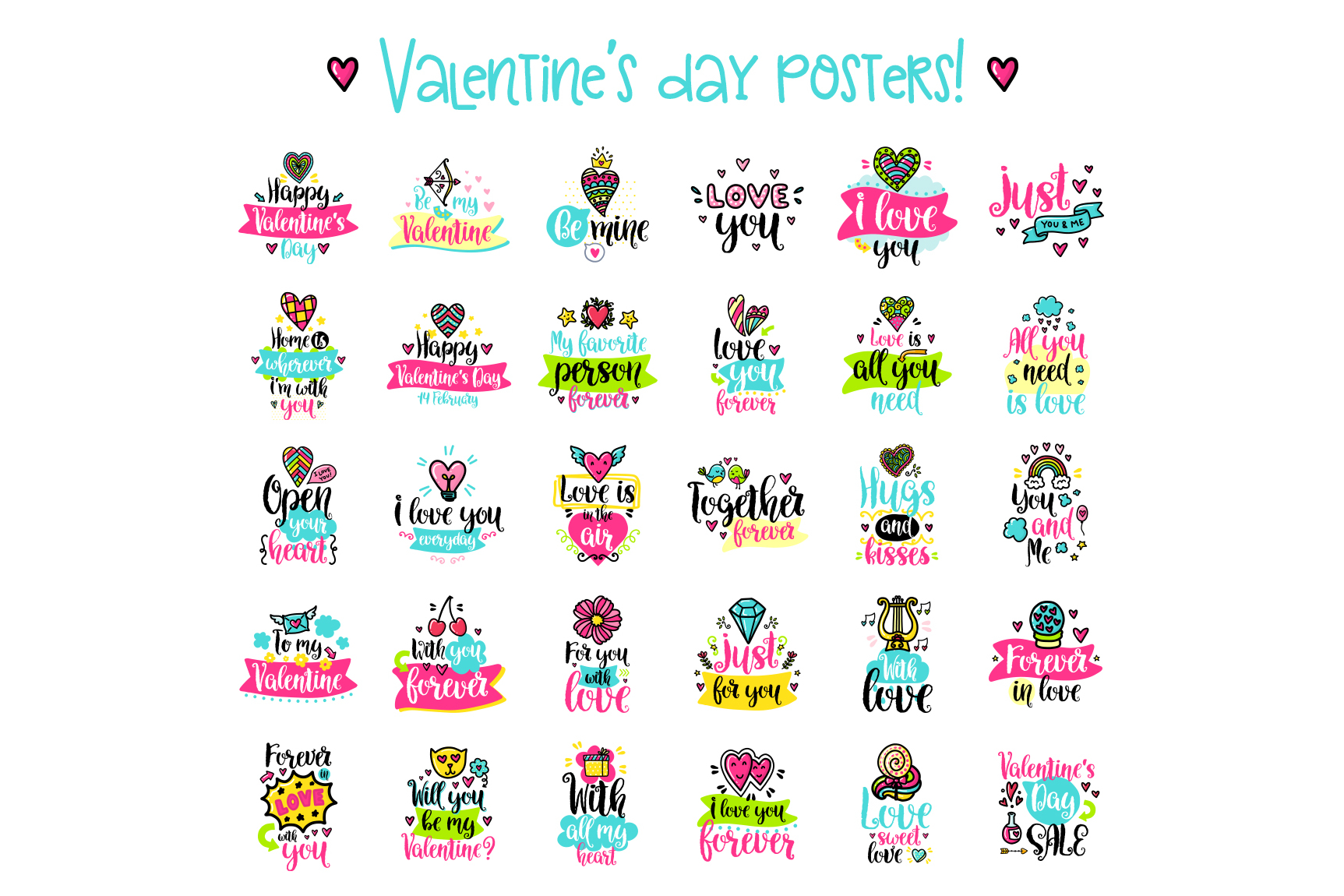 90 Valentine's Day Cards - Love Set example image 5