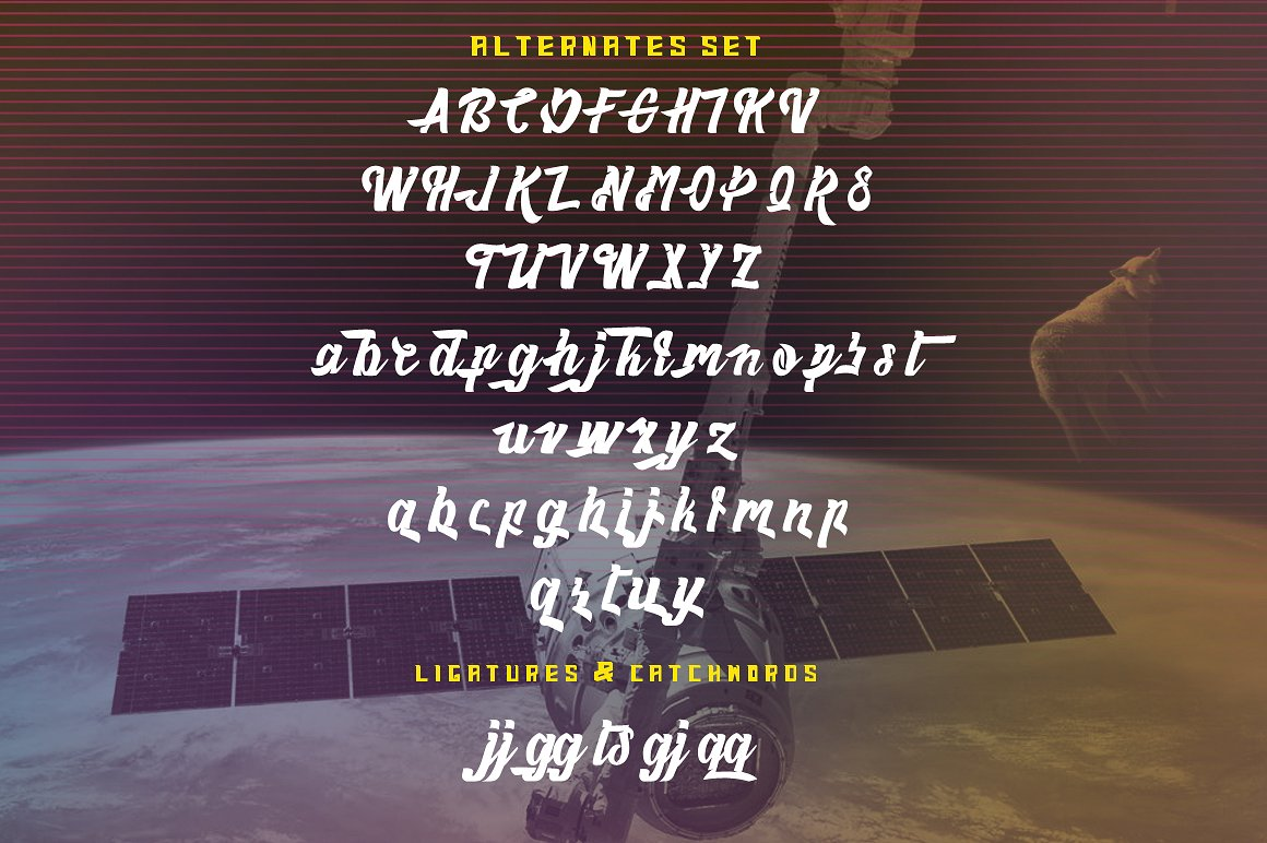 Haynthams Spacescript Font 2 in 1 example image 7