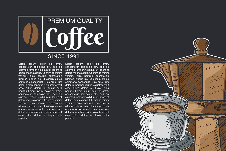 15 designs - Coffee restaurant brochure vector, coffee shop example image 2