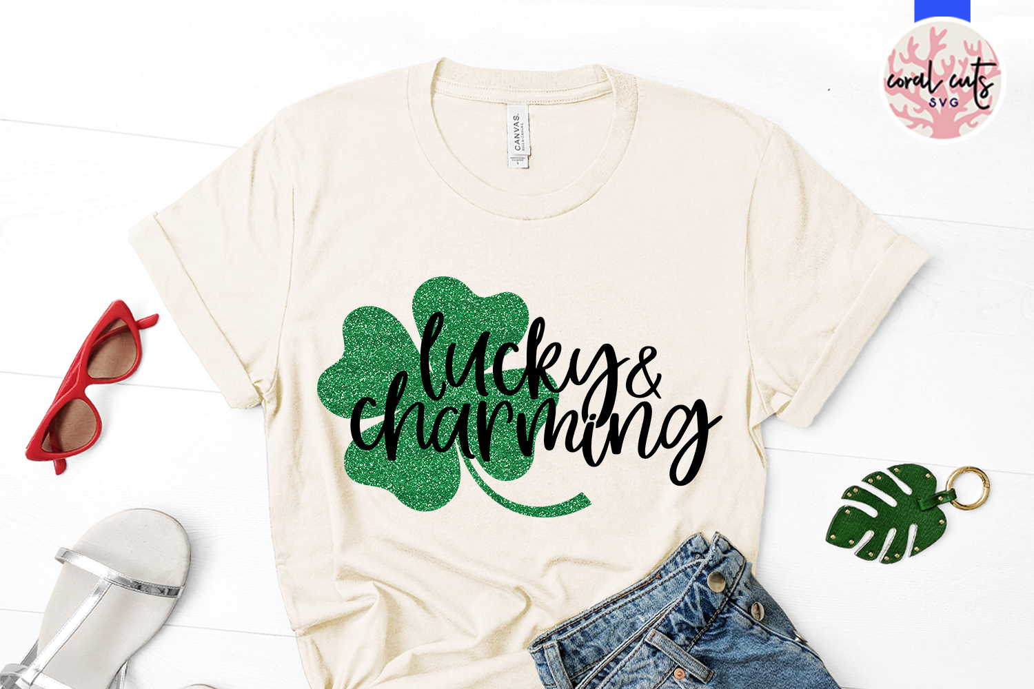 Lucky & charming - St. Patrick's Day SVG EPS DXF PNG example image 2