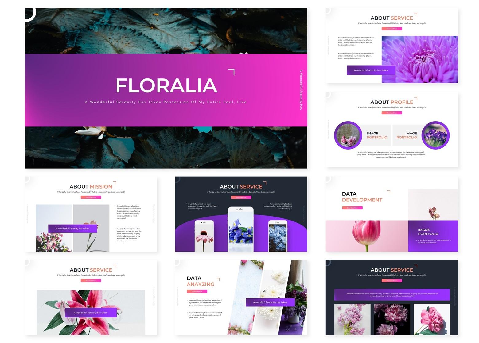 Floralia | Powerpoint, Keynote, GoogleSlides Template example image 4