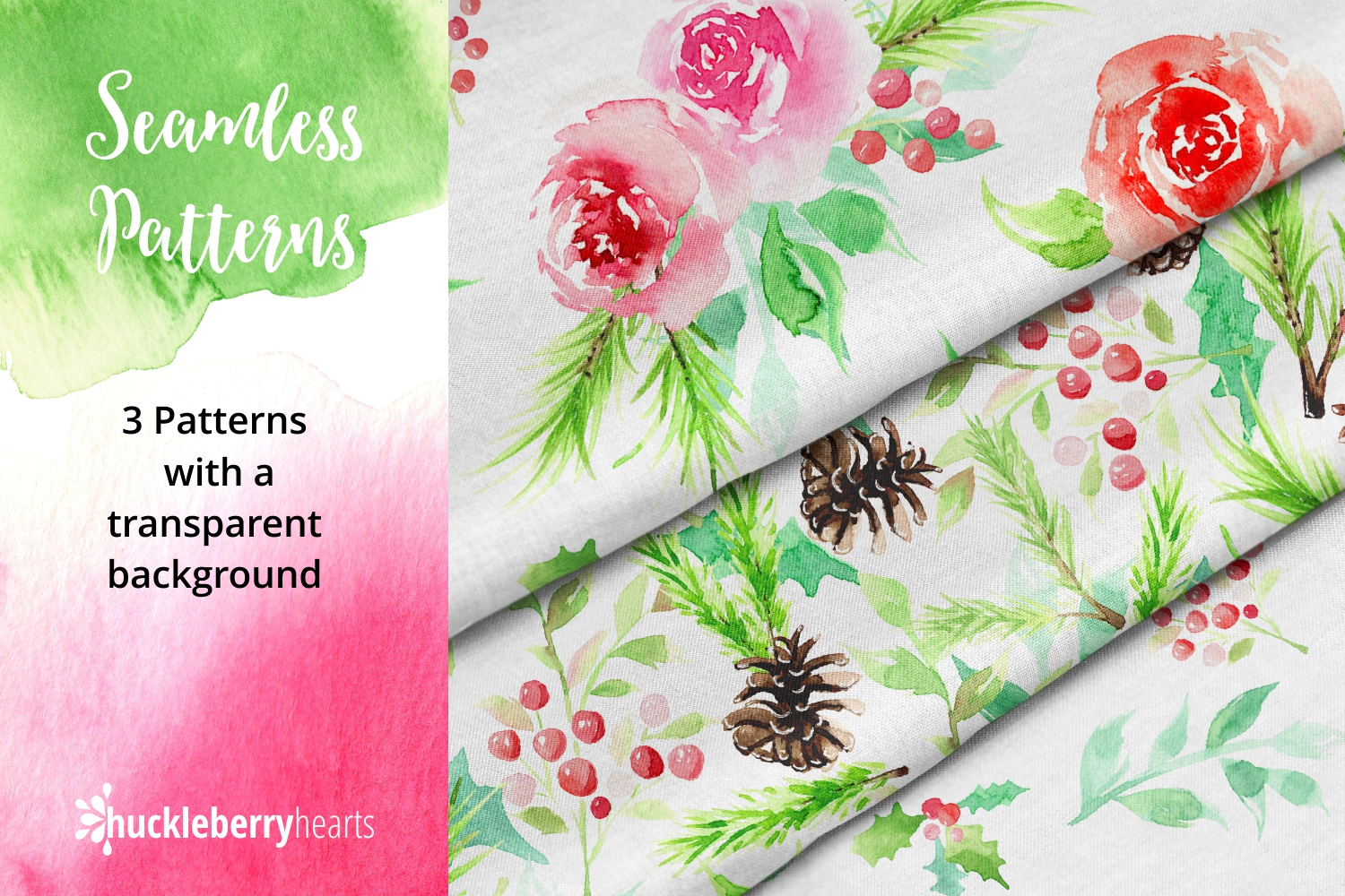 Christmas Watercolor Clipart example image 4
