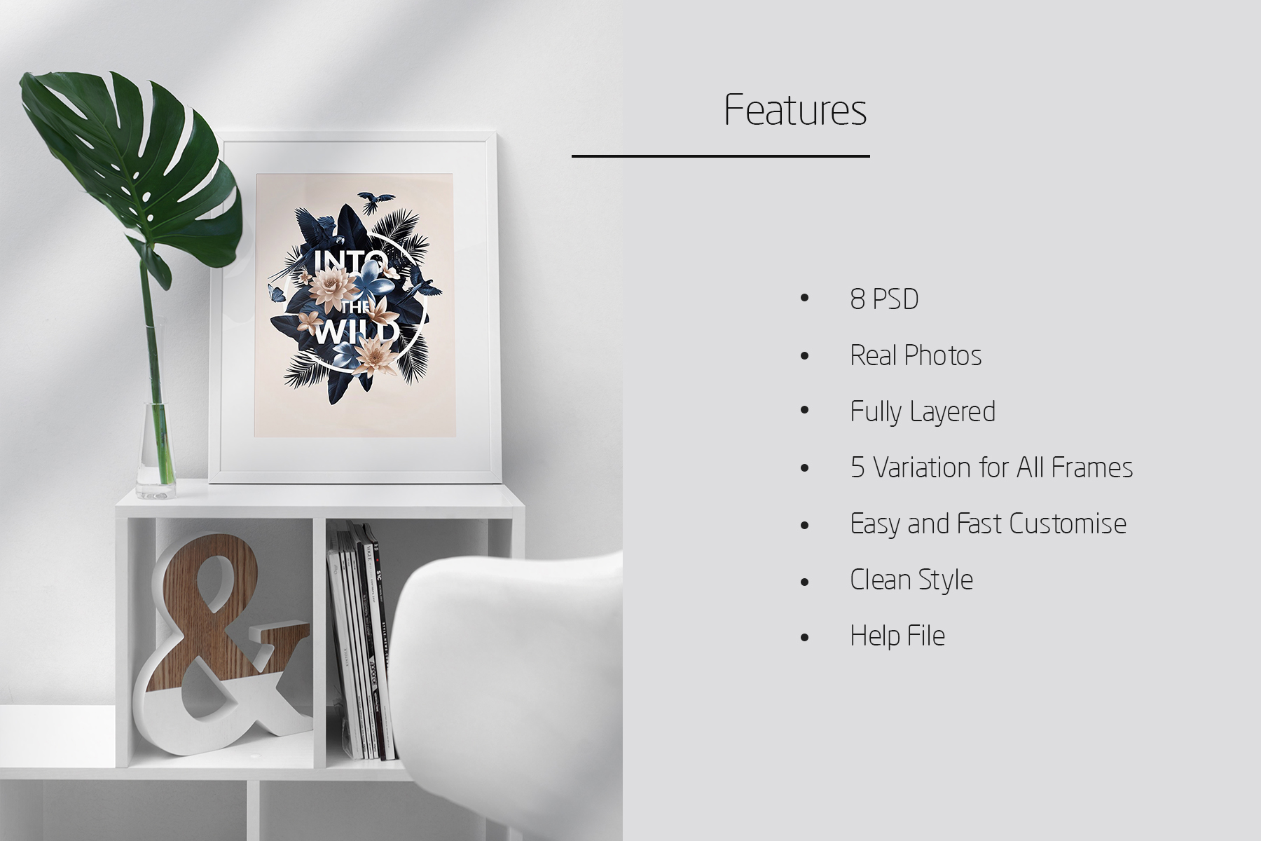 Frame Mock-Up Home Style 8 PSD example image 7
