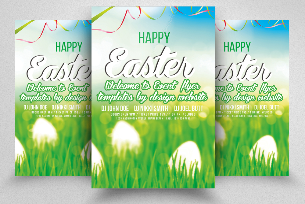 Easter Egg Hunt Flyer Print Template example image 1
