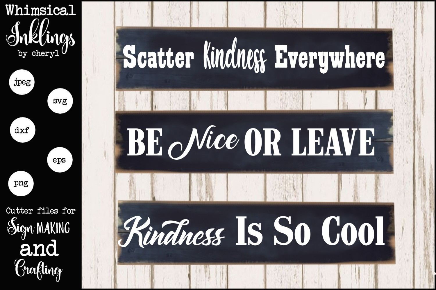 Scatter Kindness SVG example image 1