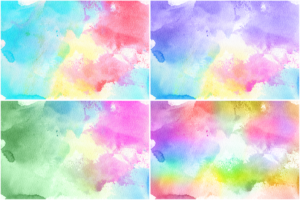 50 Watercolor Backgrounds 02 example image 9
