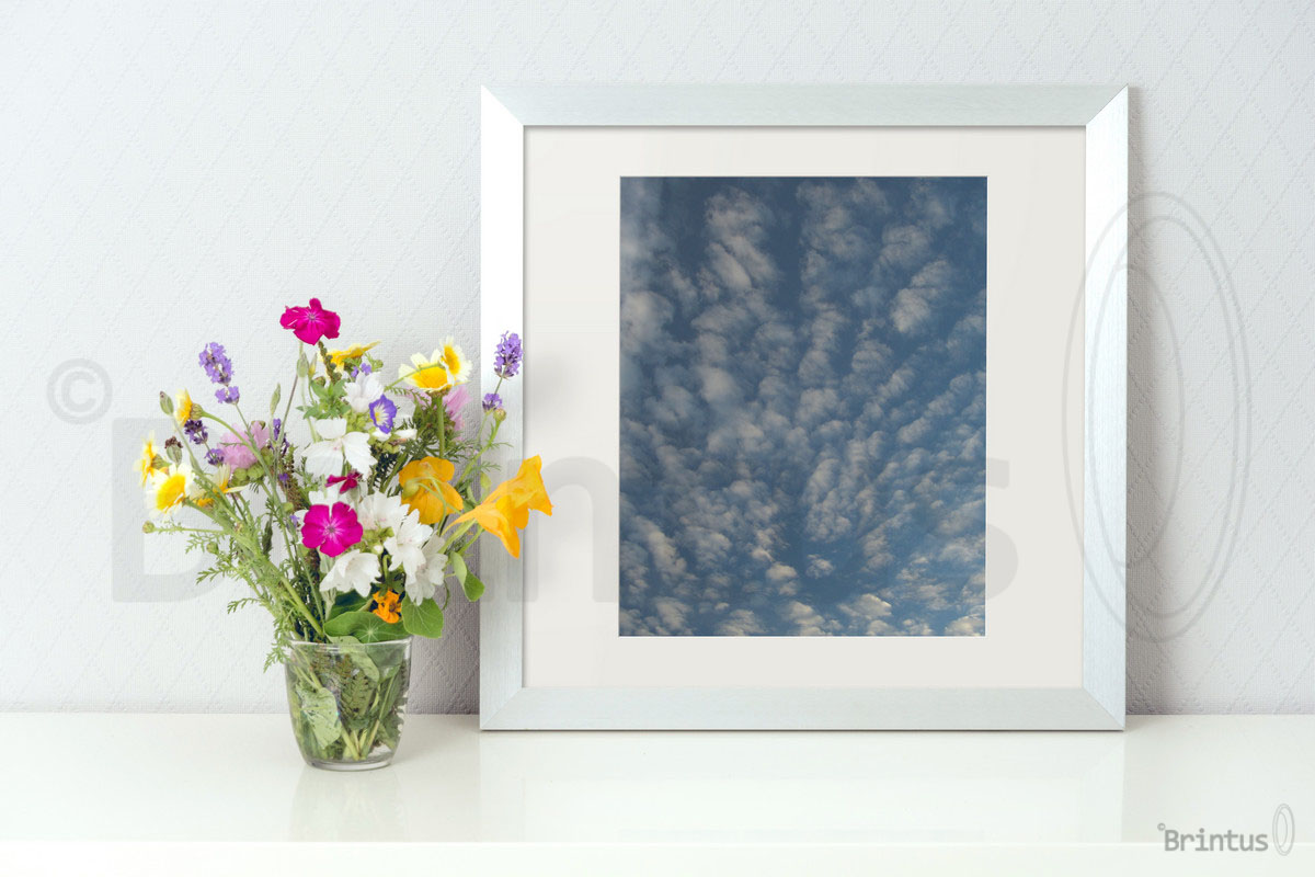 Frame mockup - clean bright interior summer field flowers example image 5