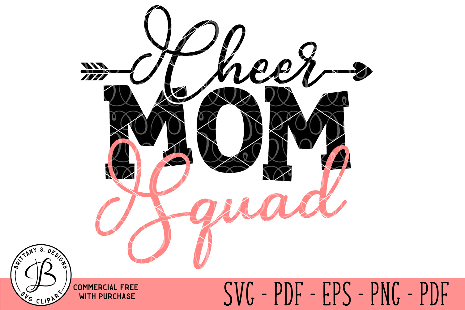 Cheer Mom Squad SVG example image 1