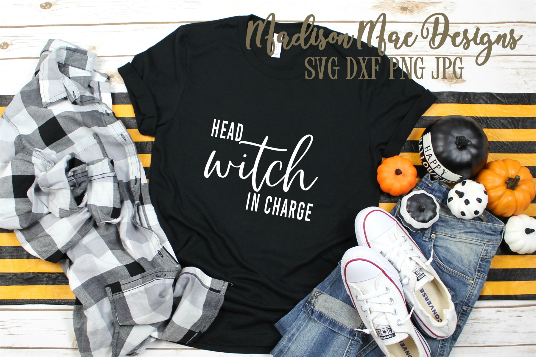 Head Witch In Charge SVG | Halloween Digital Cut File example image 2
