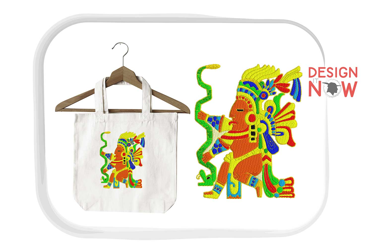 Inca Culture Embroidery Design, Inca Mythology Embroidery example image 5