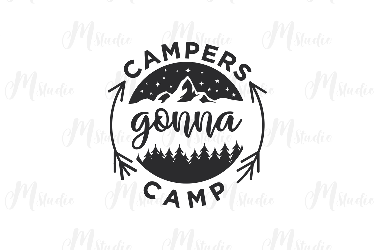 Camping SVG Bundle. example image 11