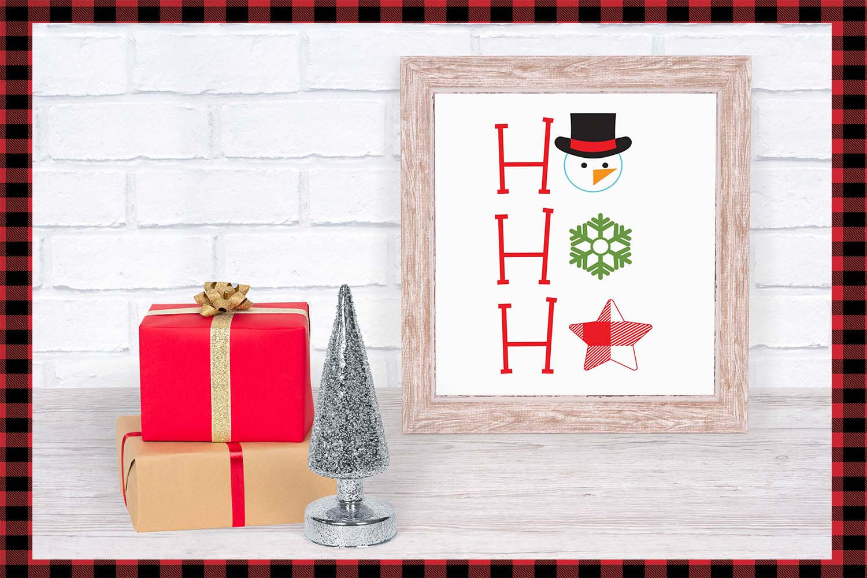 Lumberjack dingbat font, Combinable Christmas elements example image 8