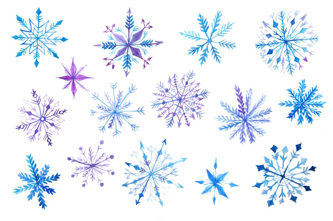 Watercolor Snowflakes Set Vol.2 example image 2