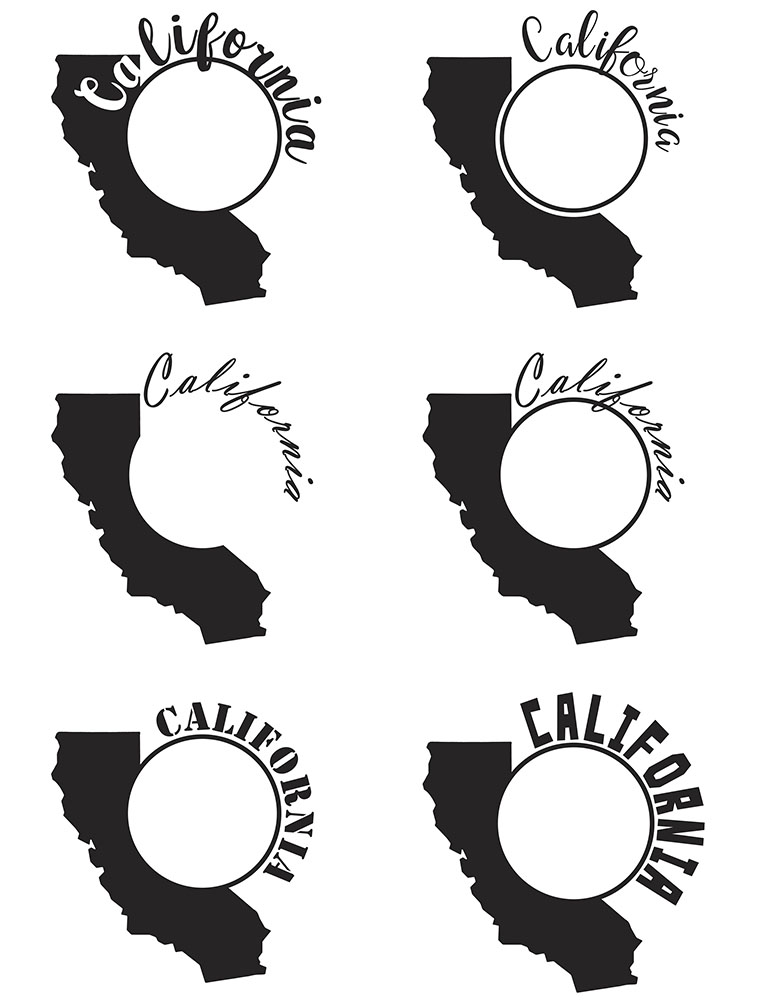California Monograms SVG, JPG, PNG, DWG, CDR, EPS, AI example image 4