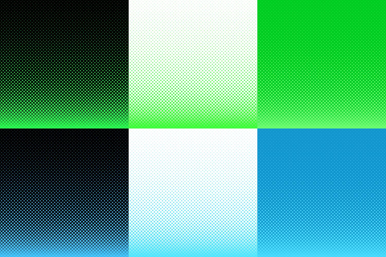 30 Halftone Square Backgrounds AI, EPS, JPG 5000x5000 example image 7