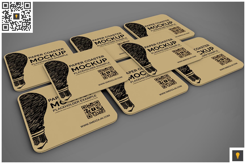Paper Coaster Mockup example image 4