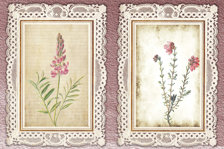Journaling Kit Pink Botanicals with free ephemera & clipart example image 4