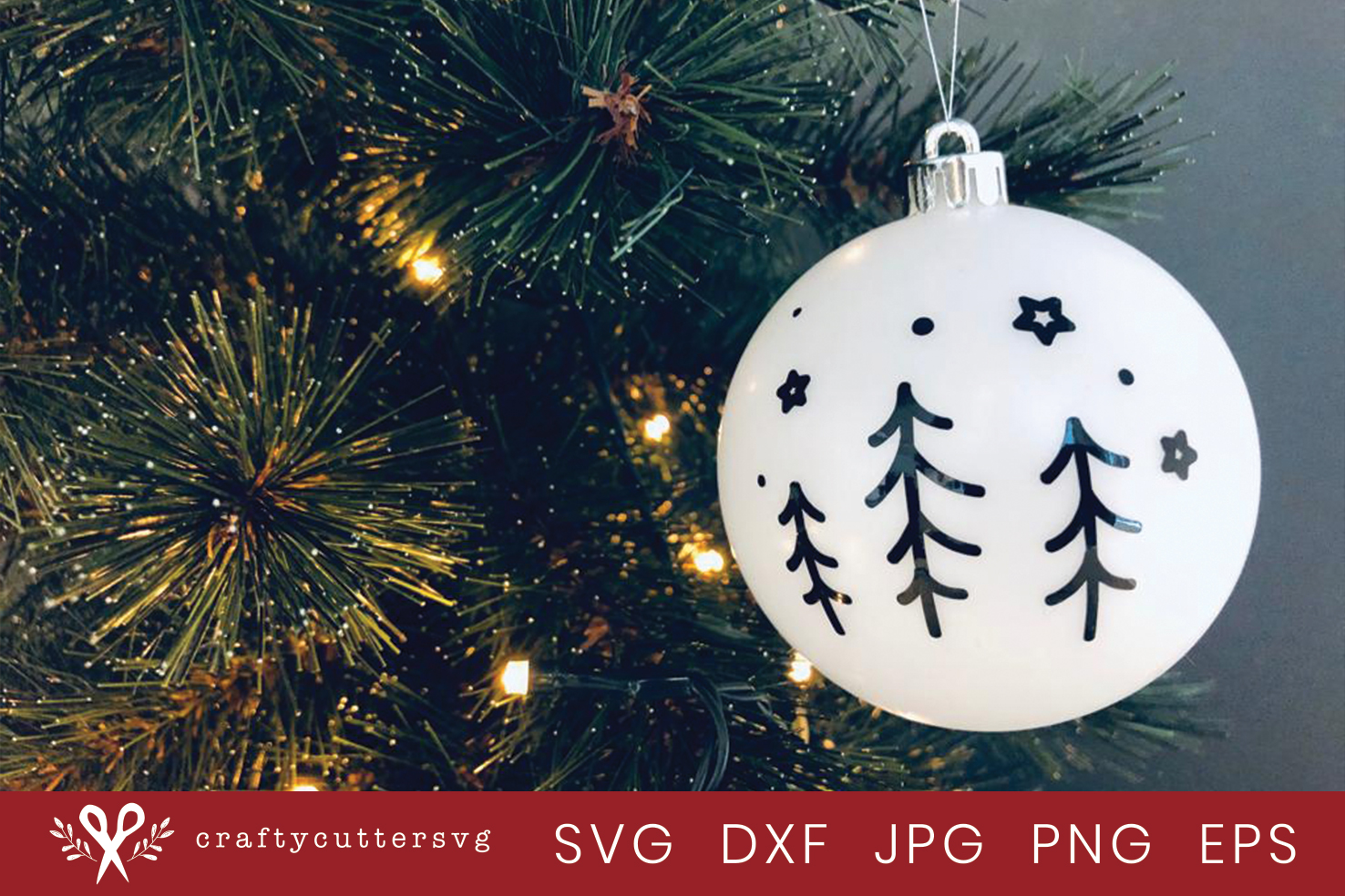 Christmas Trees Bauble Svg Cut File Bell Clipart example image 2