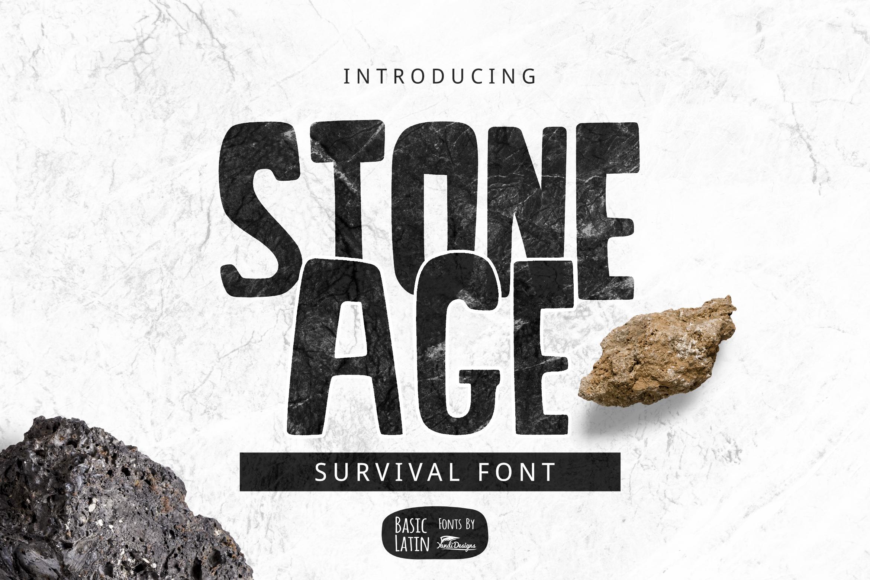 Stone Age Font example image 1