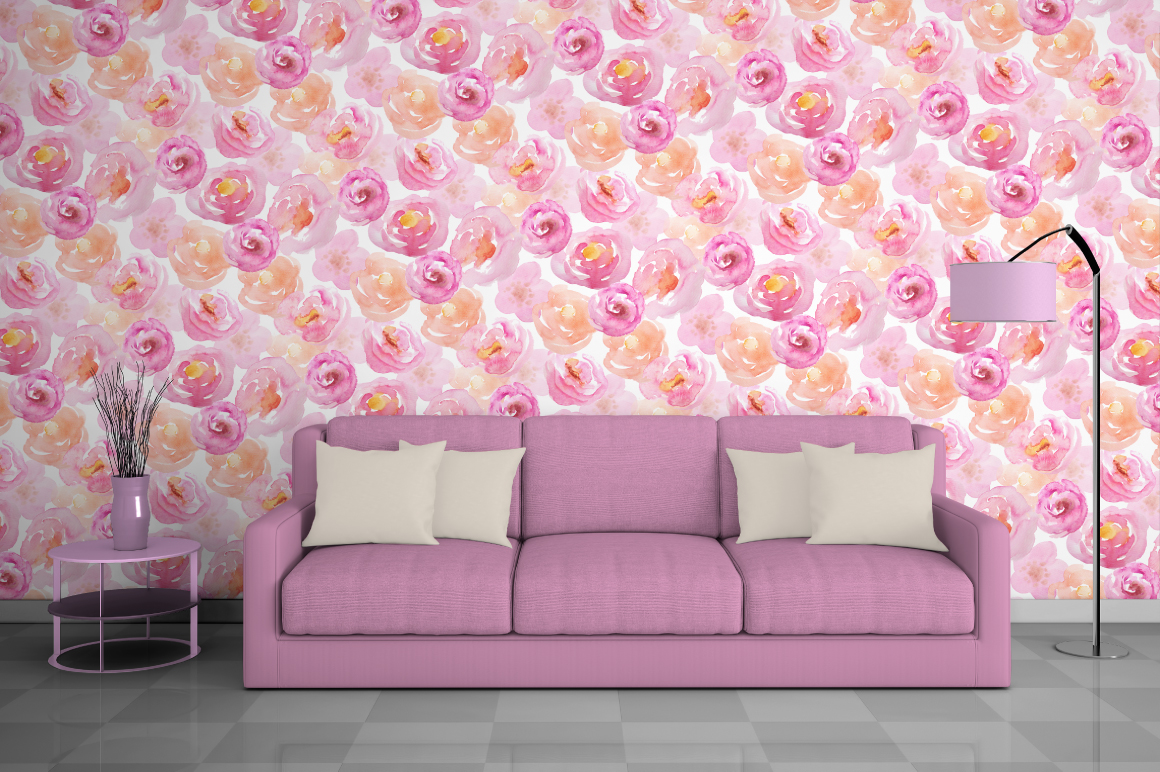 Watercolor Floral Patterns Vol.1 example image 7