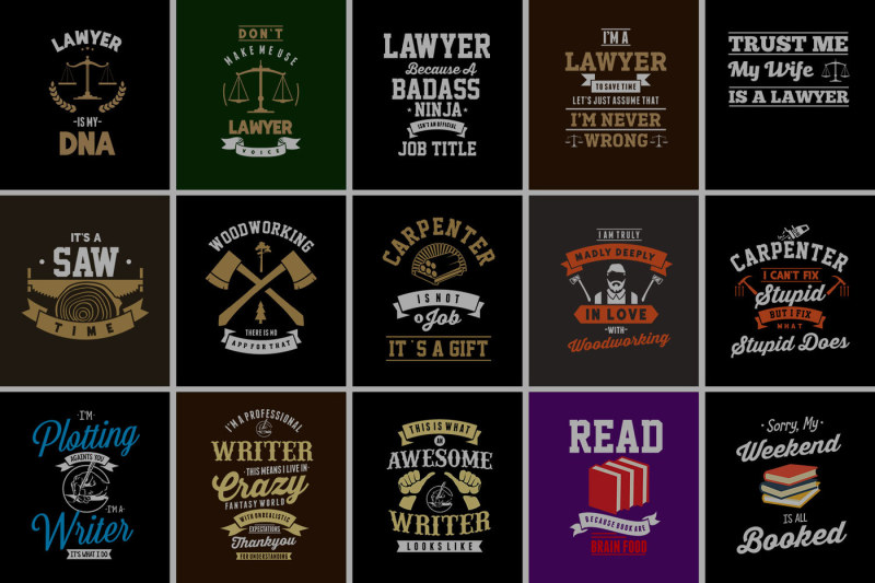 80 Awesome T-Shirt Designs Bundle Hot Niche 2019 example image 3
