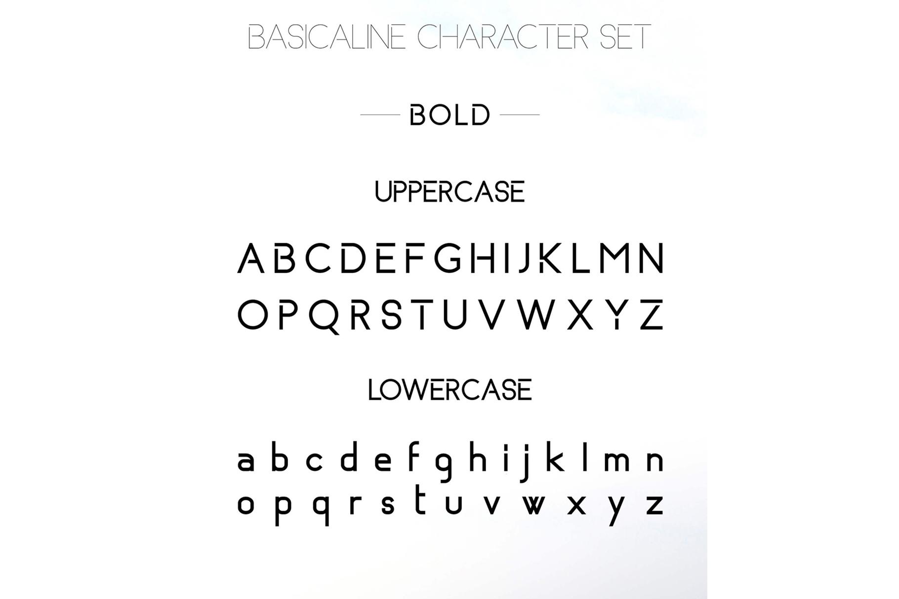 Basicaline Font Family - Sans Serif example image 13