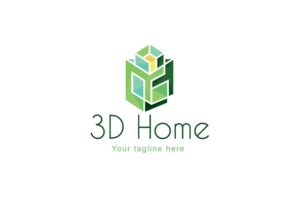 3D Home - Architect Logo Design Template example image 1