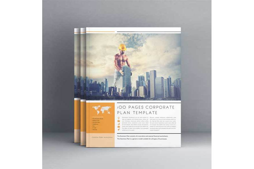 100 Pages Corporate Plan Us Letter example image 2