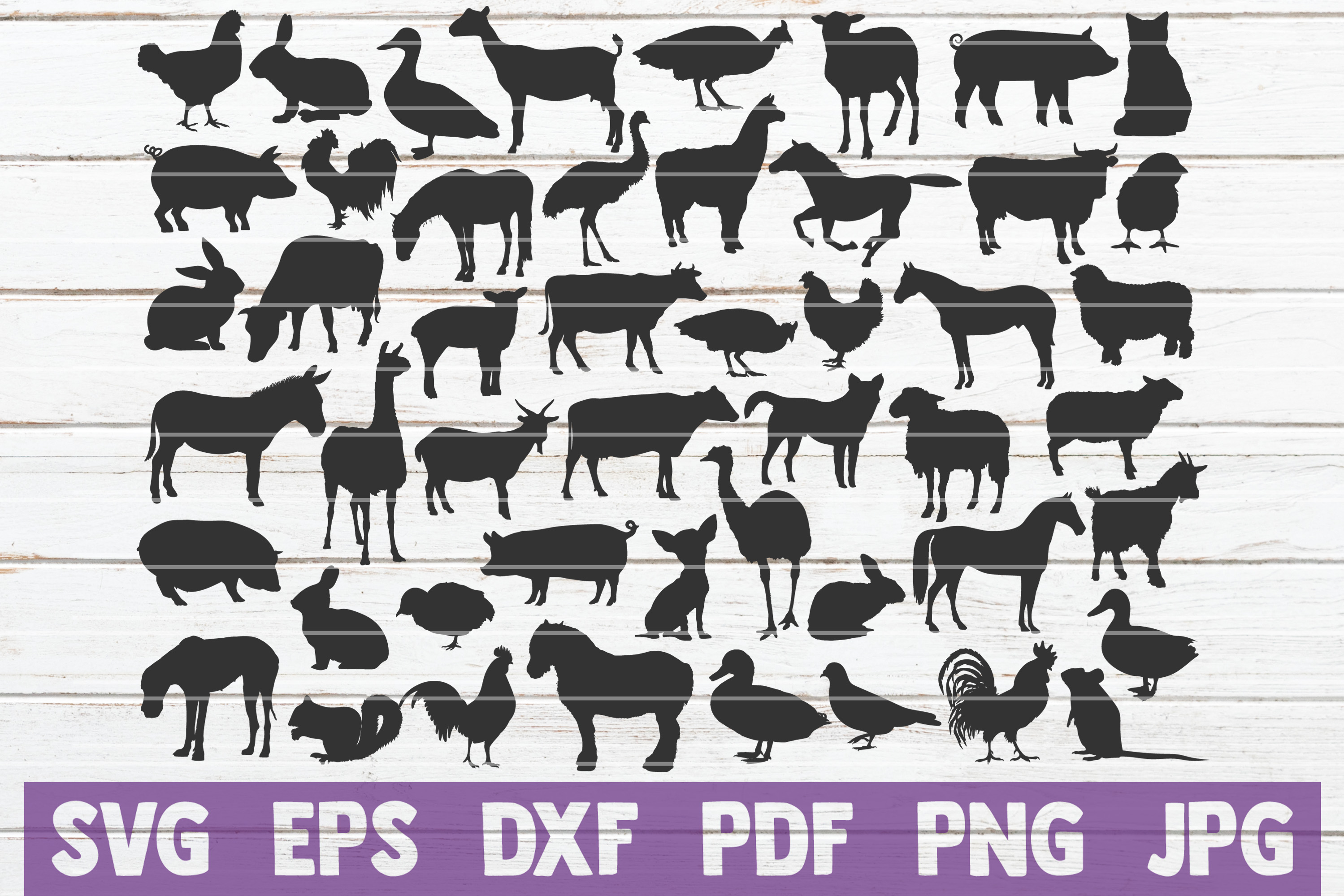 Farm Animals SVG Cut Files | commercial use example image 1