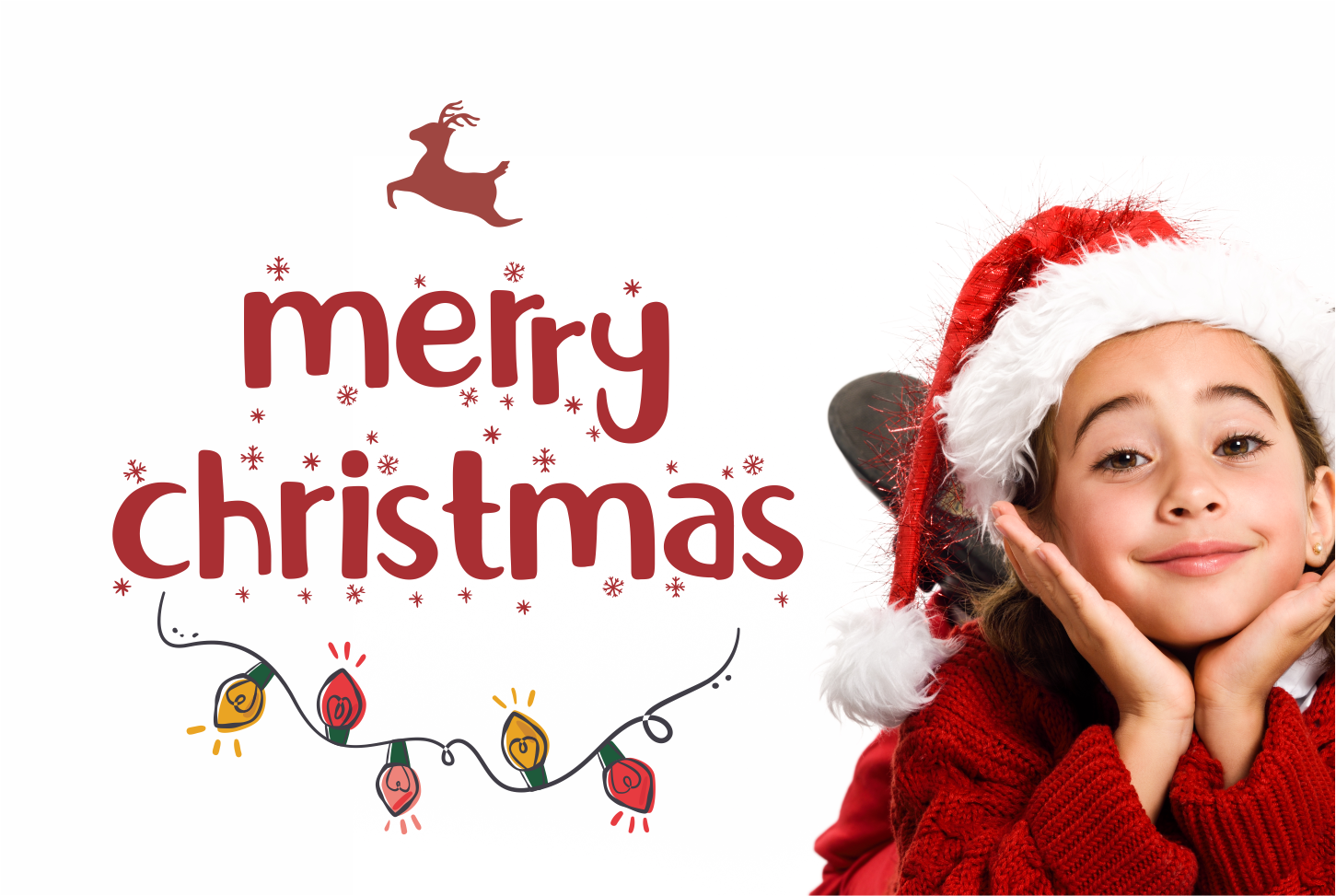 Little Santa Font | merry christmas font | 8 christmas cards example image 2