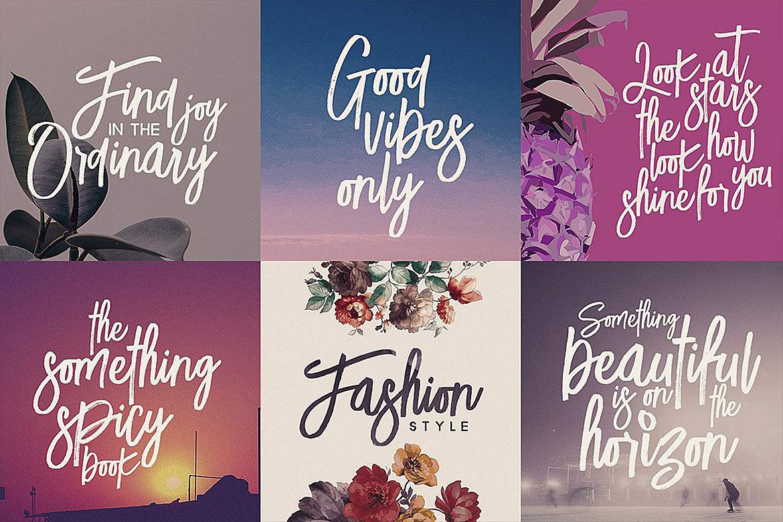 Lucky Fashion Brush Font example image 5