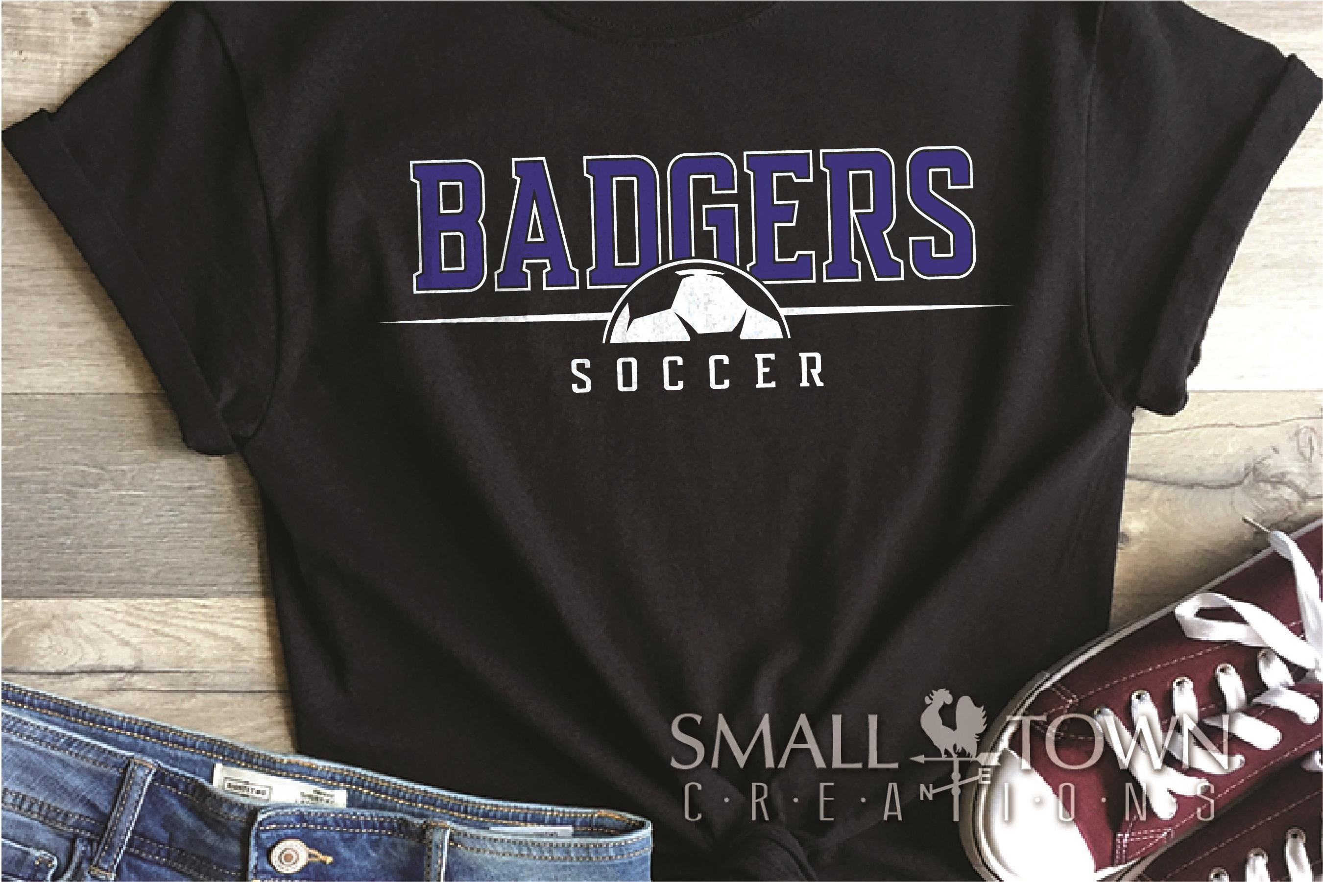 Badger, Badger Soccer Team, Sport, PRINT, CUT & DESIGN example image 1