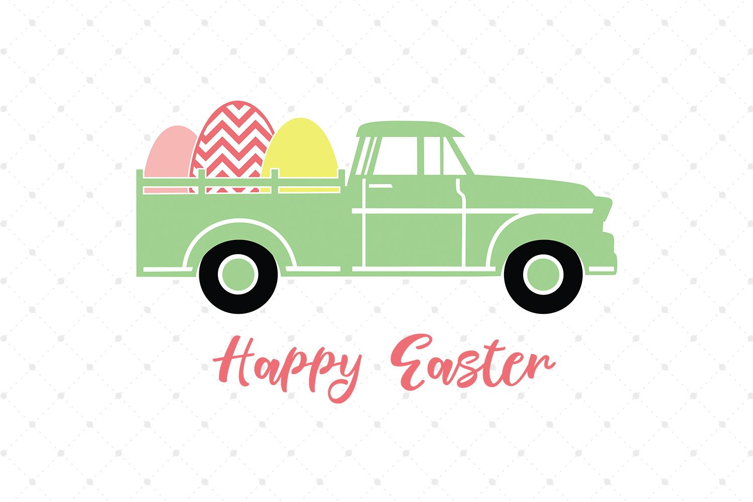 Easter Truck SVG Cut files example image 1