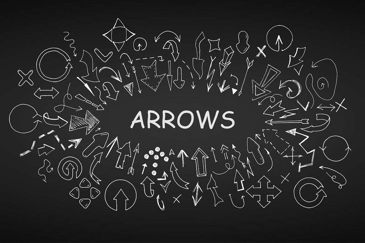 Doodle arrows collection. Hand drawn example image 4