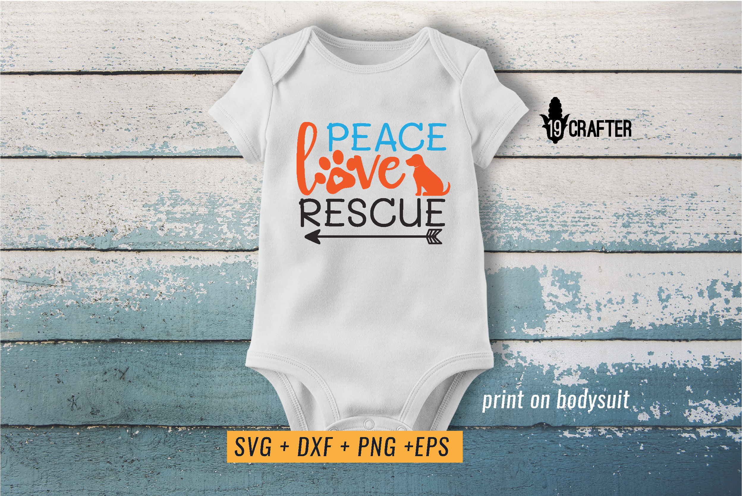peace love rescue animal svg cut file example image 2