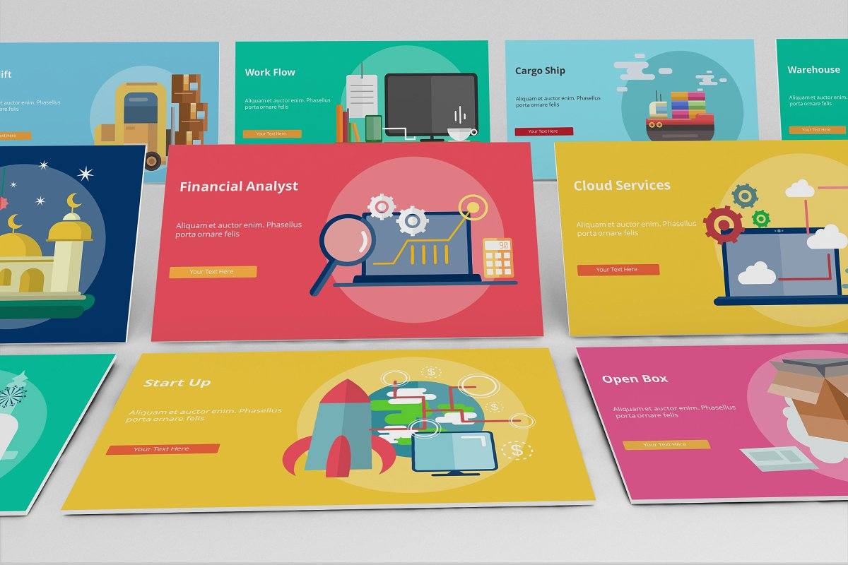 Visual Business Keynote Template example image 2