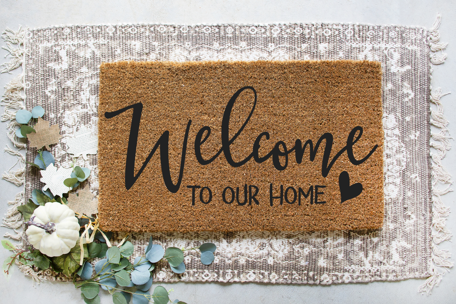 Family - Welcome - Home - Doormat - Sign Making Bundle SVG example image 8
