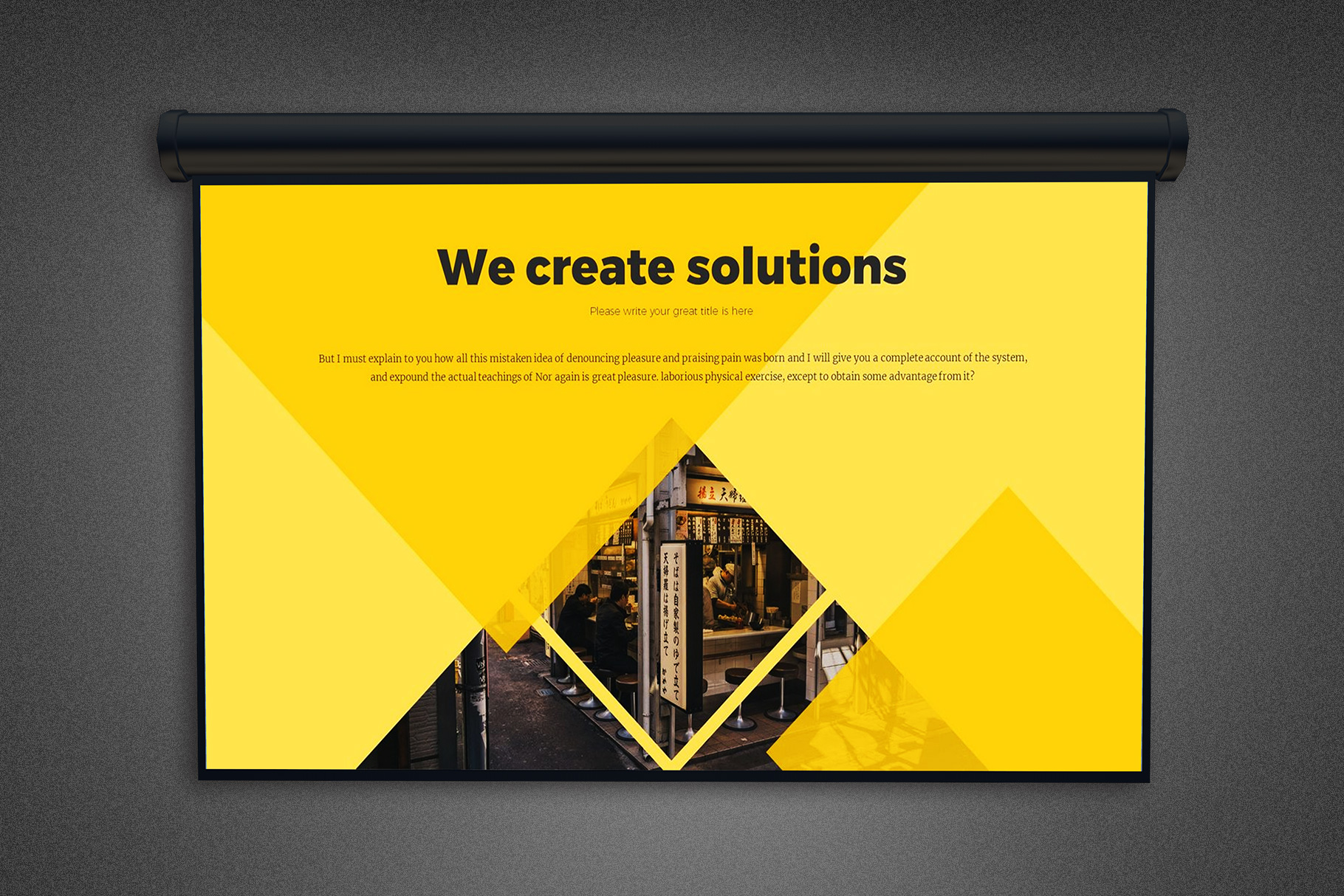 Projector Screen Mockup Template example image 2