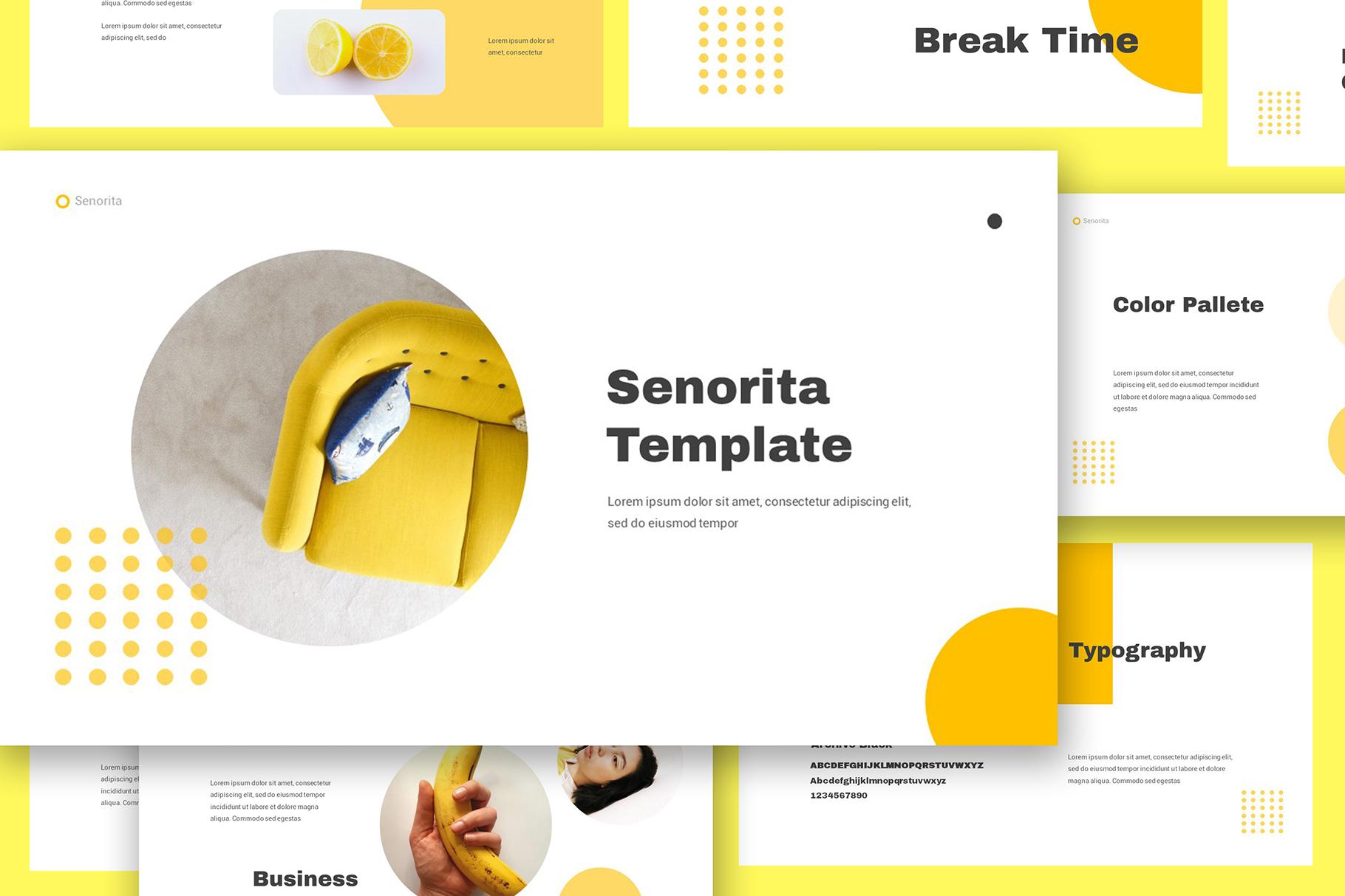 Senorita Brand Guideline Powerpoint example image 4